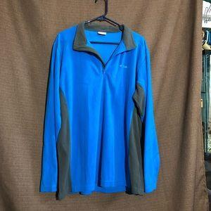 Blue Columbia 1/4 Zip Fleece Sweather Jacket Mens